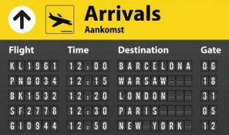 Aankomsttijden Schiphol